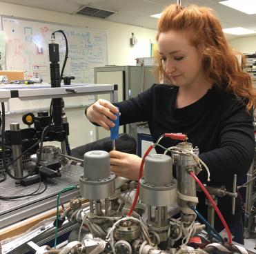 Elizabeth in the lab