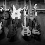 Photo of bass guitars